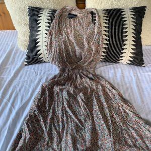 Angie floral halter dress
